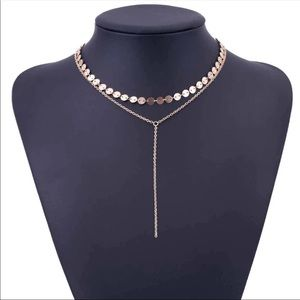 Jewelry - • Sydney • Sequin Drop Chain Necklace